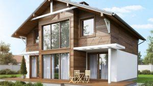 Двухэтажный дом из СИП-панелей в Воронеже