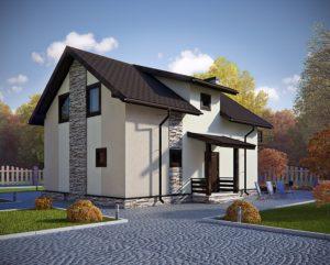 """СИП-дом """"под ключ""""  Общая площадь 105м2 стоимость домокомплекта от 9000 руб. за 1 м2 со сборкой от 1100 руб. за 1 м2"""
