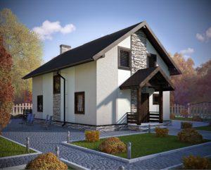 """СИП-дом """"под ключ""""  Общая площадь 127м2 стоимость домокомплекта от 9000 руб. за 1 м2 со сборкой от 1100 руб. за 1 м2"""